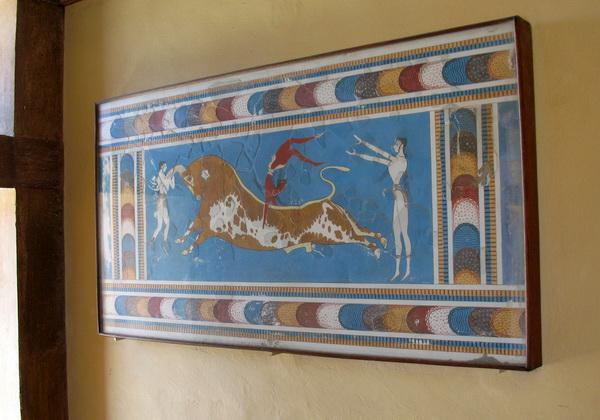 Старинные фрески Кносского дворца