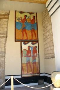 Фрески на стенах Кносского дворца на Крите