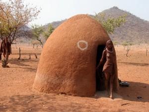 Традиционная хижина химба - «крааль»