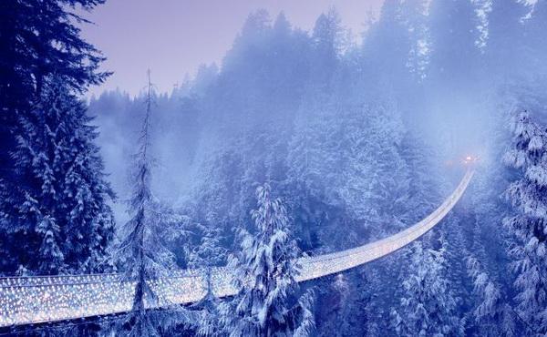 Мост Капилано зимой