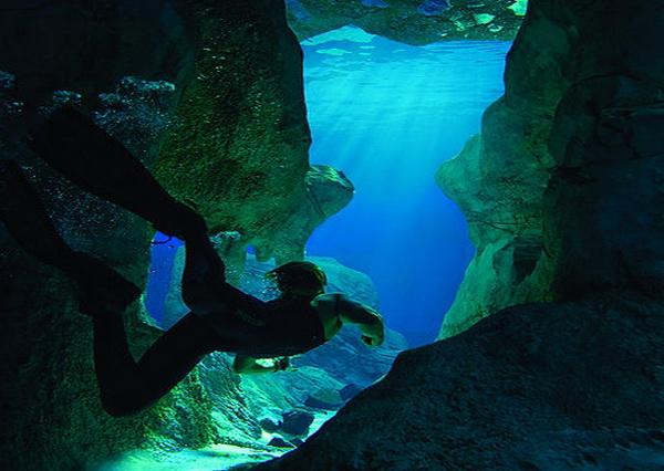 Съёмки фильма Санктум в Пещере Ласточек в Мексике