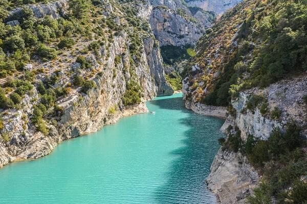Природные достопримечательности Европы с фото и описанием - Ущелье Вердон во Франции