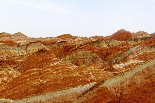 Природные достопримечательности Китая с фото и описанием - Цветные (радужные) горы Чжанъе