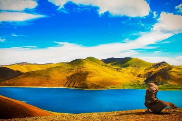 Природные достопримечательности Китая с фото и описанием - Озеро Ямджо-Юмцо или Ямдрок