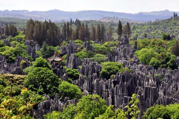 Природные достопримечательности Китая с фото и описанием - Каменный лес Юньнань или Шилинь