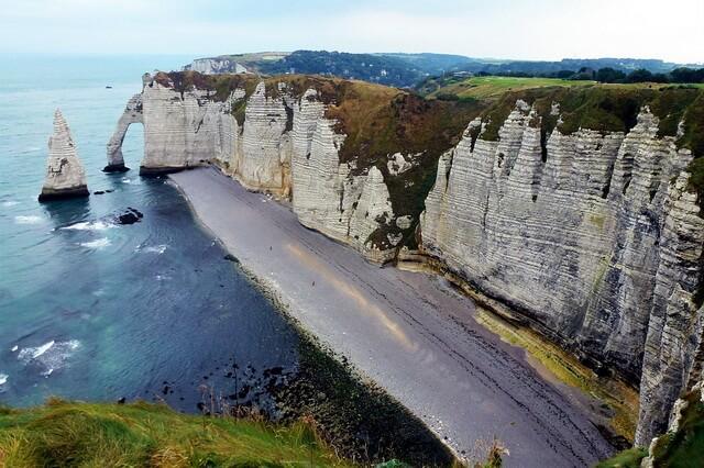 Скалы Этрета во Франции - чудо природы Нормандии