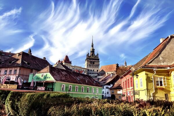 Разноцветные дома в Европе - Сигишоара, Румыния