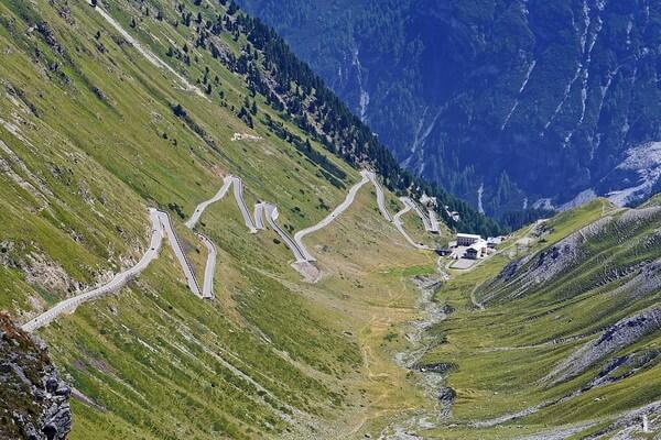 Велоспорт в Италии - Подъём на перевал Сильвио