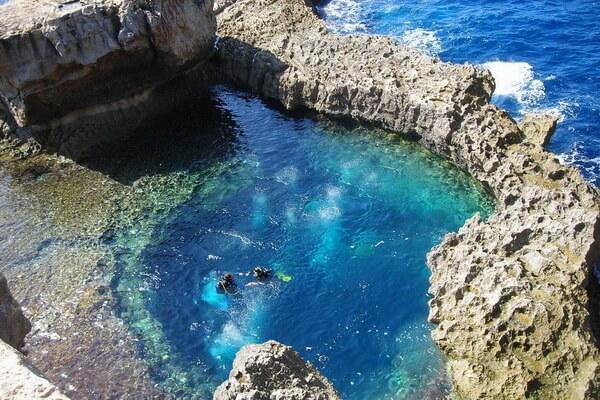 Дайвинг в Европе - Голубая дыра Гозо на Мальте