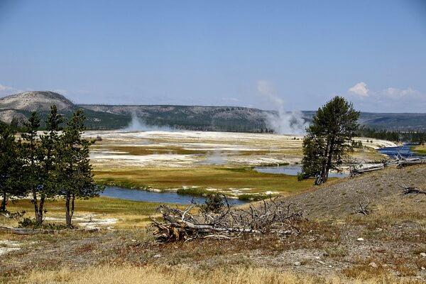 Гейзерные поля мира - Национальный парк Йеллоустоун