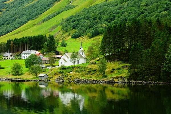 Норвежские фьорды - красивые фото - Согне-фьорд