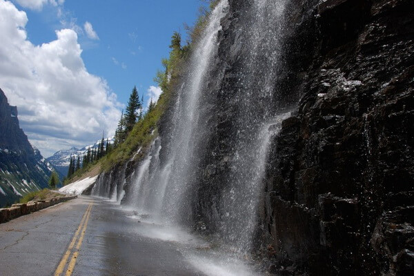 Национальный парк Глейшер - Горная трасса Going-to-the-Sun Road