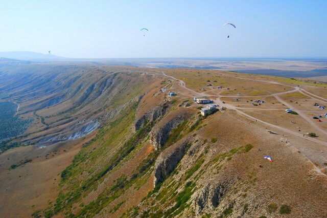 Гора Клементьева (Узун-Сырт) в Крыму - идеальное место для свободных полётов