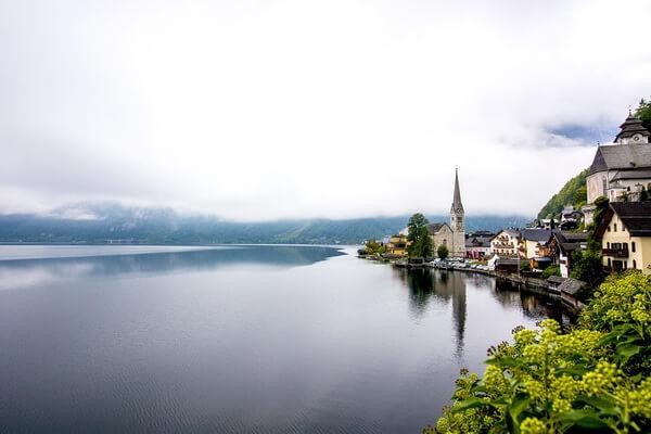 Фото города Гальштат в Австрии