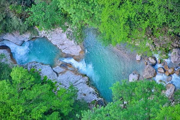 Достопримечательности каньона Окаце в Грузии