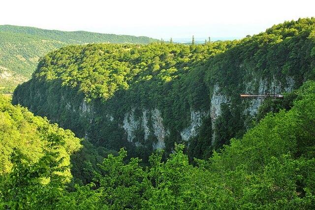 Каньон Окаце - уникальное место Грузии