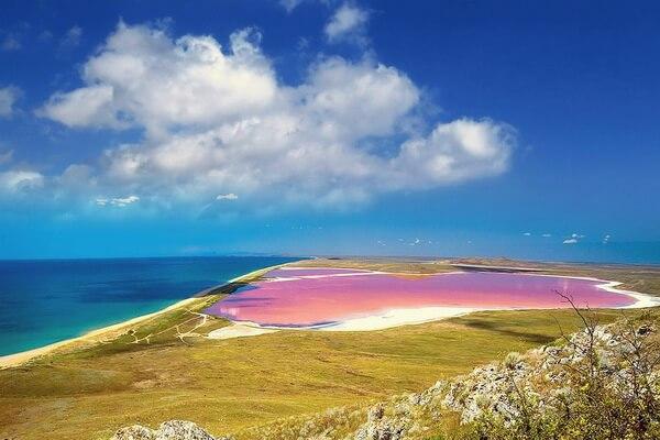 Кояшское розовое озеро в Крыму