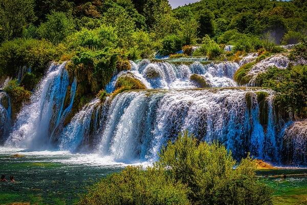 Водопады в национальном парке Крка в Хорватии