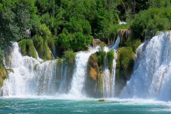 Водопады Крка в Хорватии