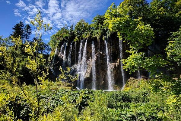 Водопады национального парка Плитвицкие озёра в Хорватии
