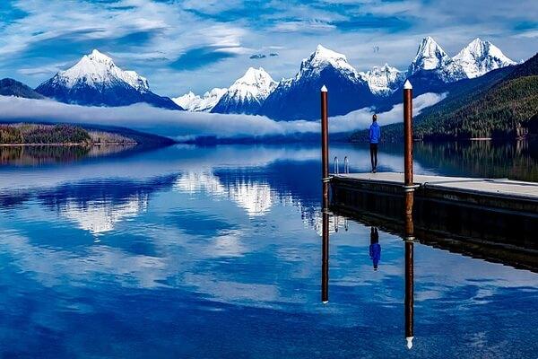 Озеро Макдональд в США - красивые фото