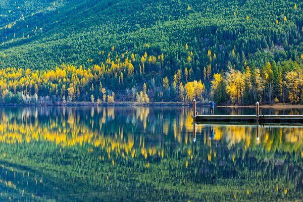 Отдых у озера Макдональд в США