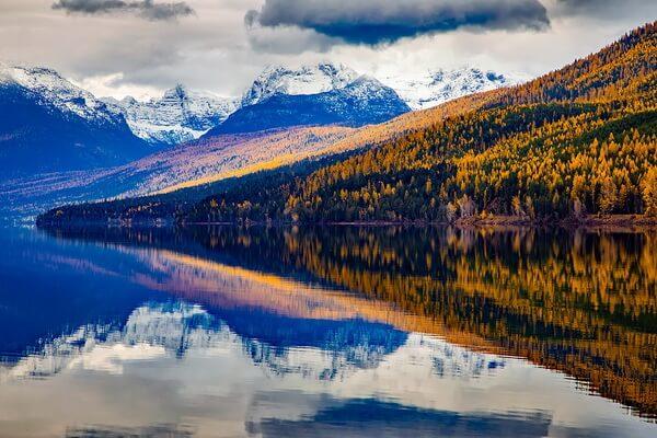 Национальный парк Глейшер в США - Озеро Макдональд