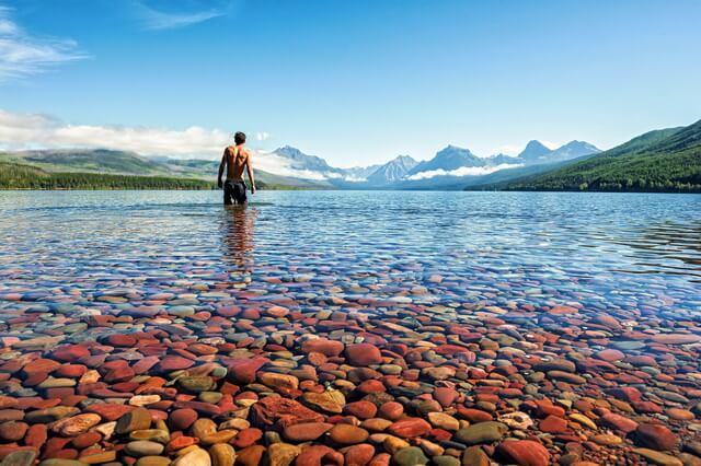 Ледниковое озеро Макдональд в США