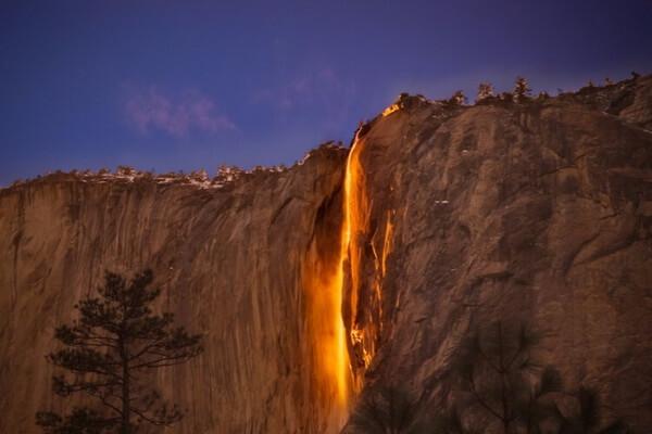 Высота водопада Лошадиный Хвост в США