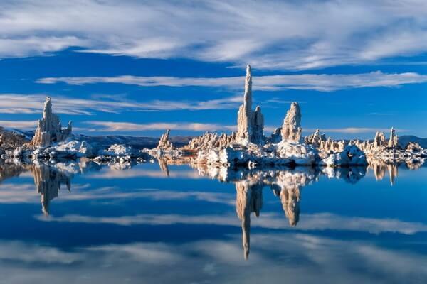 Фото озера Моно зимой