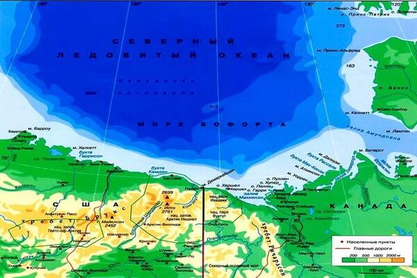 Море Бофорта на карте
