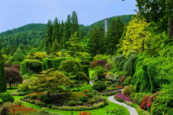Самые красивые сады мира с фото - Сады Бутчартов, Канада