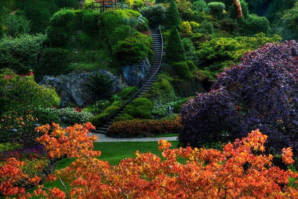 Самые красивые сады мира - Канадские сады Бутчартов