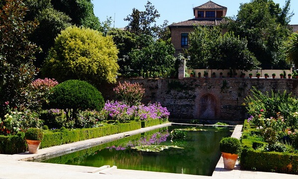 Самые красивые сады и парки Европы - Сады дворца Альгамбра