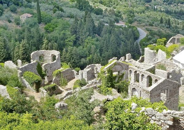 Древний город Мистра в Греции