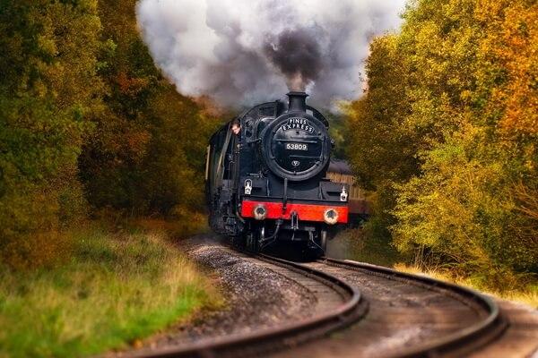 Путешествие на поезде по Европе - самые красивые жд маршруты с фото и описанием - Ж/д маршрут Норт-Йорк-Мурс, Англия