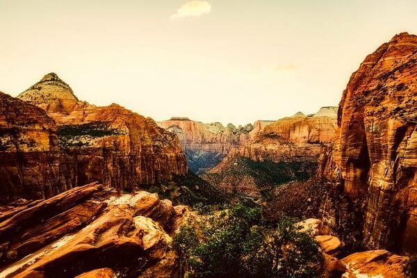 Красивые фото национального парка Зайон в штате Юта