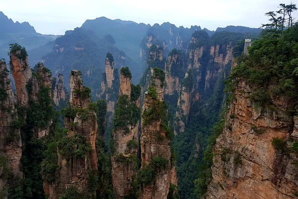 Необычные пейзажи с фото и описанием - Чжанцзяцзе в Китае