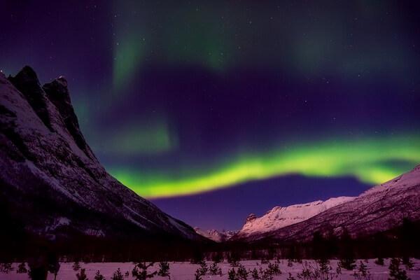 Где можно увидеть северное сияние - список стран