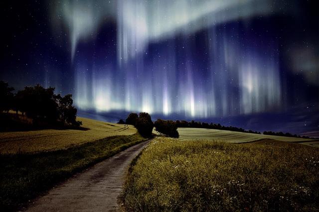 Чудо природы - северное сияние