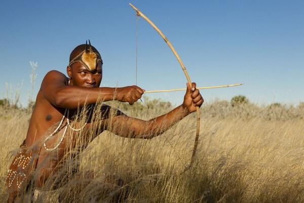 Жизнь народа племени бушмены