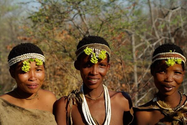 Племя бушменов в Африке