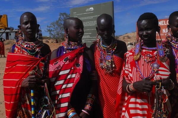 Женщины племени масаи