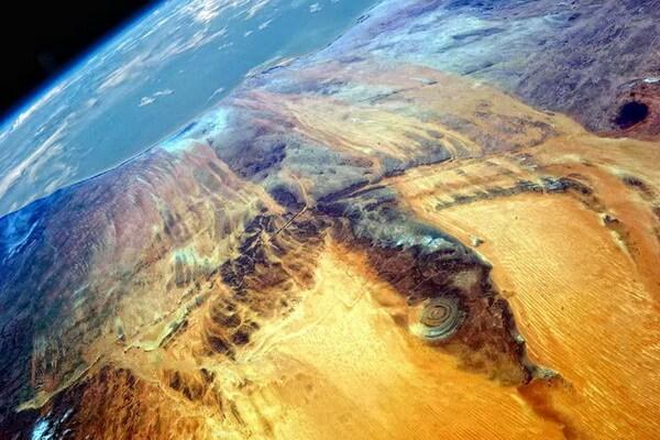 Глаз Сахары из космоса