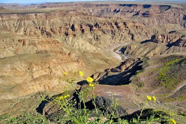 Самые красивые каньоны мира - Каньон Фиш-Ривер в Намибии