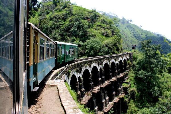 Самые красивые места Индии с фото и описанием - Железнодорожная линия «Калка-Шимла»