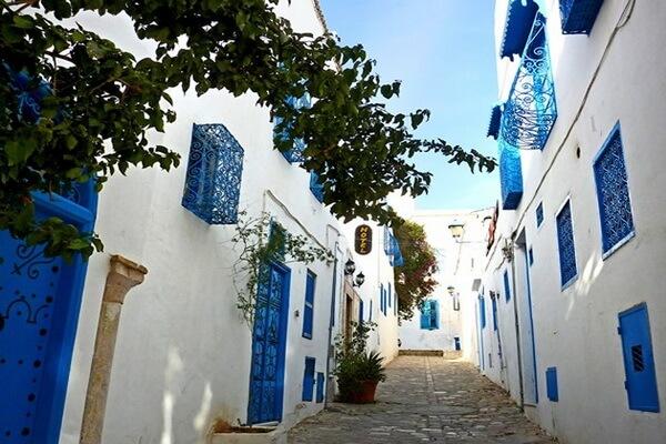 Город Сиди-бу-Саид в Тунисе