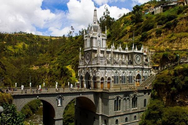 Как добраться к собору Лас-Лахас в Колумбии