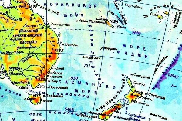Где находится Коралловое море