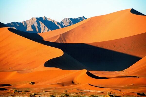 Песчаные дюны Соссусфлей в Намибии